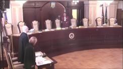 Ședința publică a Curții Constituționale din 9 martie 2017