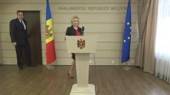 Briefing susținut de liderul fracțiunii parlamentare a PDM, Marian Lupu