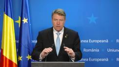 Declarație de presă susținută de președintele României, Klaus Iohannis, la finalul reuniunii Consiliului European