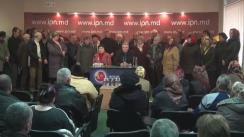 """Conferință de presă cu tema """"Bogătașii de la Chișinău schimbă natura conflictului din Drepcăuți prin șantaj și cu prețul lacrimilor proprietarilor"""""""