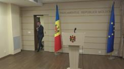 Conferință de presă susținută de președintele Parlamentului Republicii Moldova, Andrian Candu