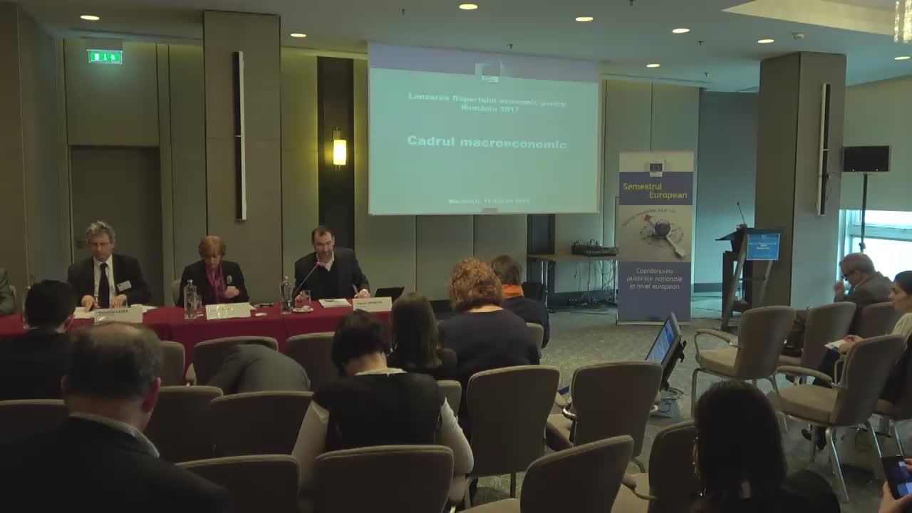 Lansarea Raportulului economic pentru România - cadrul macroeconomic