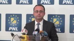 Conferință de presă susținută de Președintele PNL București, Cristian Bușoi