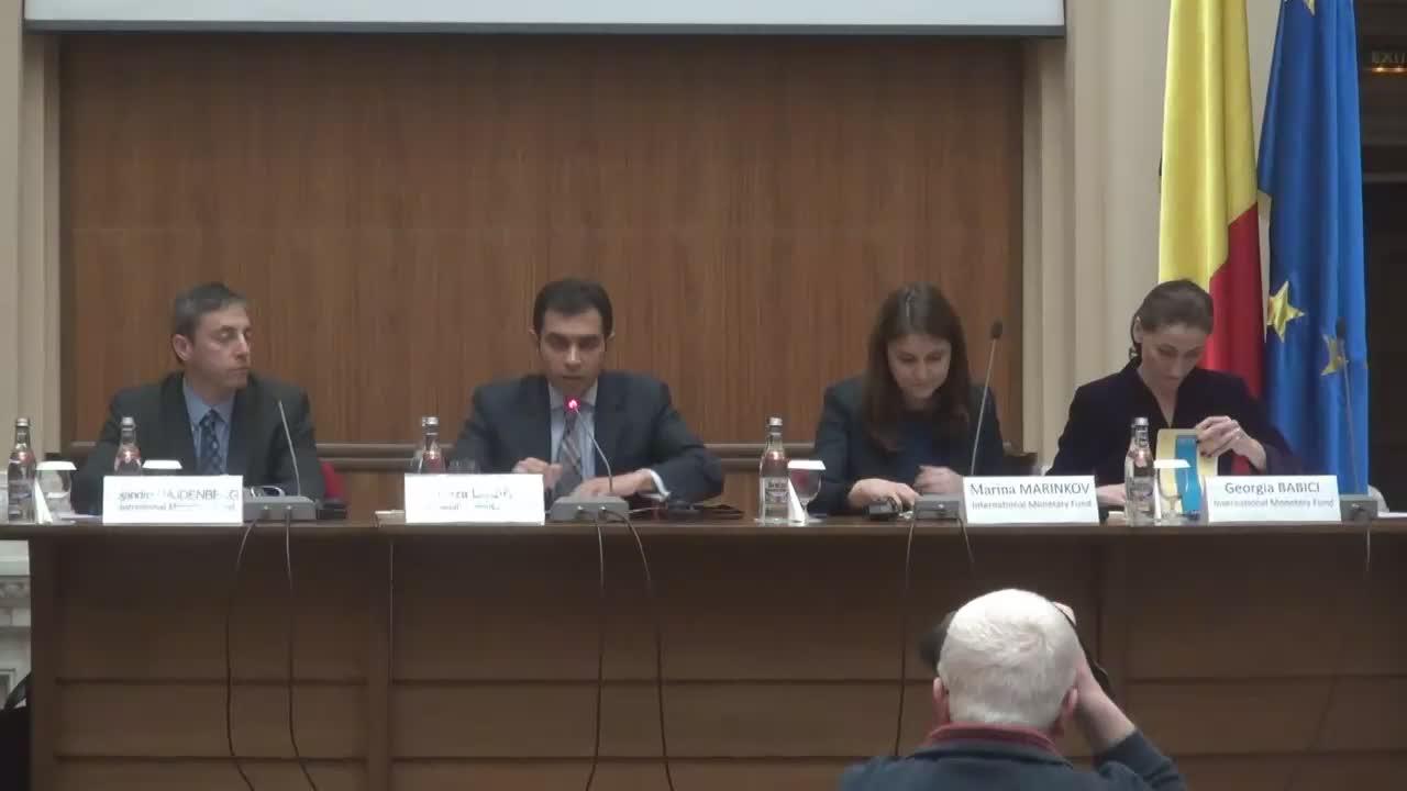 Conferință de presă organizată la finalul misiunii FMI care a avut consultări cu autoritățile române pe marginea ultimelor evoluții economice și a politicilor în domeniu
