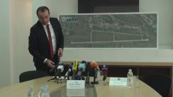"""Conferința de presă cu tema """"Premieră pentru Republica Moldova – AVIA INVEST prezintă planul de construcție pentru ce-a dea doua pistă de pe Aeroportul Internațional Chișinău"""""""