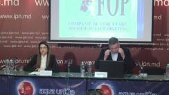 """Conferință de presă cu tema """"Sondaj socio-politic, realizat de Fondul Opiniei Publice (FOP) la solicitarea ziarului TIMPUL"""""""