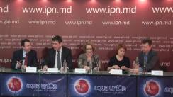 """Conferință de presă organizată de Transparency International-Moldova și IDIS Viitorul cu tema """"Problemele-cheie în activitatea întreprinderilor cu capital de stat și opțiunile de redresare a situației"""""""