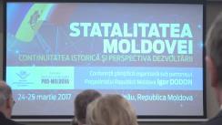 """Conferința științifică internațională """"Statalitatea Moldovei: continuitatea istorică și perspectiva dezvoltării"""""""