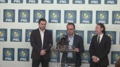 Conferință de presă susținută de Secretarul general al PNL, Cristian Bușoi, alături de senatorul PNL, Florin Cîțu, și purtătorul de cuvânt al consilierilor PNL din CGMB, Ciprian Ciucu