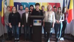 """Conferință de presă organizată de Partidul unionist DREAPTA cu tema """"99 de ani de la votarea Unirii Basarabiei cu România"""""""
