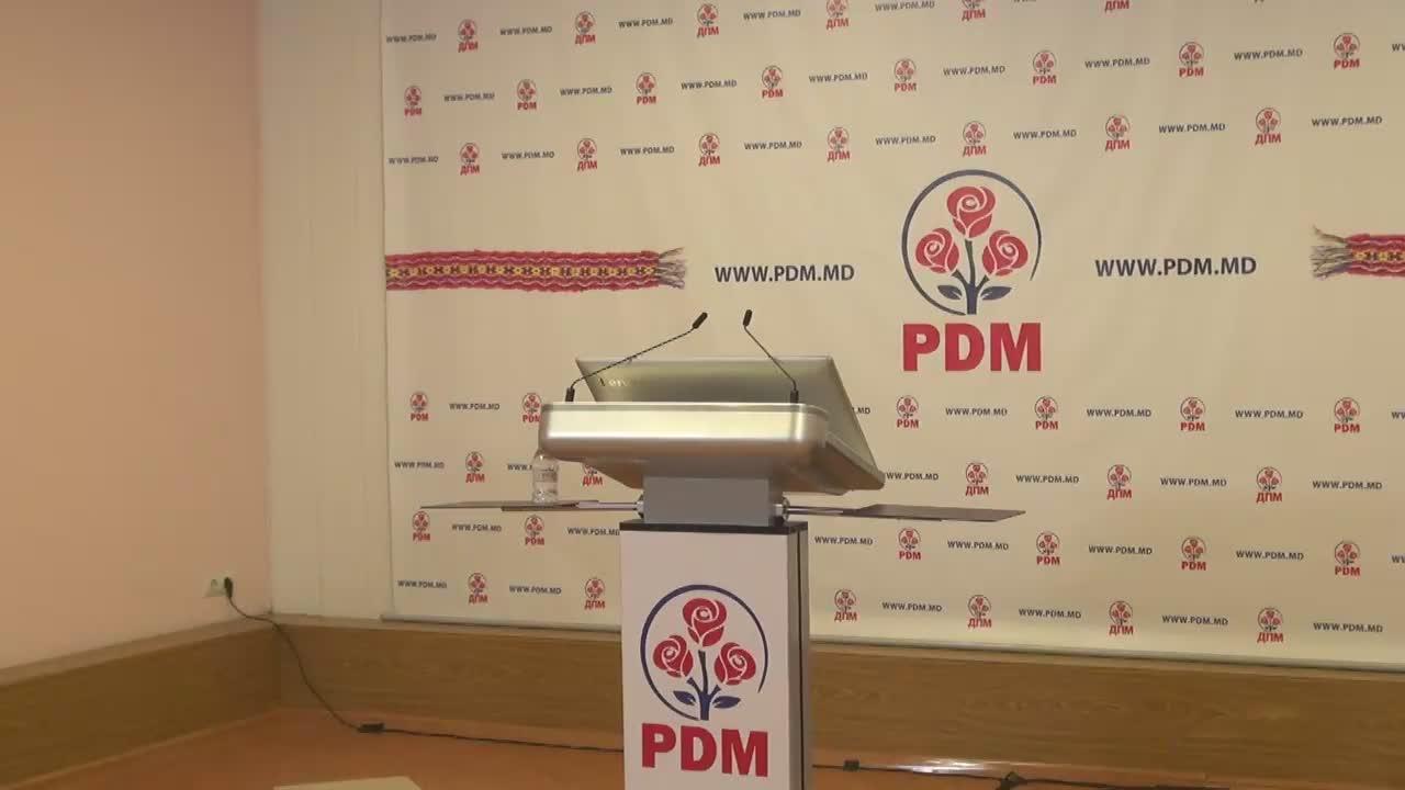 Briefing organizat de conducerea Partidului Democrat din Moldova