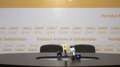 """Conferință de presă susținută de Secretarul General al PAS, Igor Grosu, și juristul Sergiu Litvinenco, cu titlul """"Proiect de lege pentru combaterea traseismului politic în rândul aleșilor locali"""""""