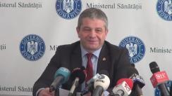 Declarații de presă susținute de ministrul Sănătății, prof. dr. Florian Bodog