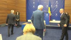 Ceremonia de semnare a Protocolului de colaborare între Ministerul Afacerilor Externe și Ministerul Cercetării și Inovării