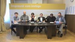 """Conferință de presă susținută de membrii Biroului Permanent Național al PAS cu titlul """"100 de zile de incompetență"""""""