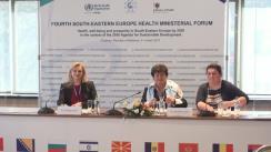 Conferință de presă susținută de Ministrul Sănătății al Republicii Moldova, Ruxanda Glavan, și Directorul Regional OMS pentru Europa, Zsuzsanna Jakab