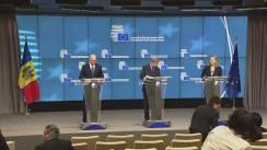 Conferință de presă susținută de Prim-ministrul Republicii Moldova, Pavel Filip, și Comisarul european pentru politica de vecinătate și negocieri pentru extindere, Johannes Hahn, după cea de-a treia reuniune a Consiliului de Asociere Republica Moldova - Uniunea Europeană
