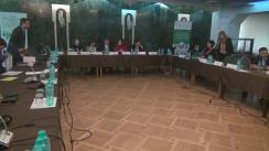 """Conferință de presă susținută de Ministrul Mediului, Valeriu Munteanu, și reprezentanta UNEP, Giovanna Chiodi Moiré, cu genericul """"Evaluarea inițială privind implementarea Convenției Minamata cu privire la mercur în Republica Moldova"""""""