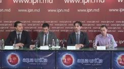 """Conferință de presă organizată de Centrul Analitic Independent Expert-Grup cu tema """"Apelul public pentru suspendarea contractului de concesionare a lucrărilor de explorare a 40% din teritoriul Republicii Moldova"""""""
