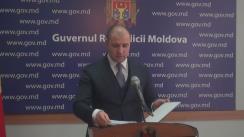 Declarațiile lui Vladimir Cebotari după ședința Guvernului Republicii Moldova din 5 aprilie 2017