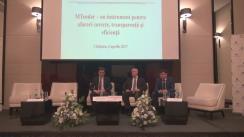 """Conferința """"Reforma achizițiilor publice: MTender – un instrument pentru afaceri corecte, transparență și eficiență"""""""