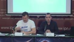"""Conferința de presă cu tema """"Investițiile străine în scheme corupte din Chișinău"""""""