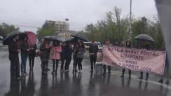 """Flashmob organizat de Tineretul Liberal cu genericul """"Lumina LIBERTĂȚII"""" și """"Vrem strada 7 APRILIE 2009!"""""""