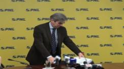 Conferința de presă a viceliderul grupului parlamentar PNL din Camera Deputaților, Eugen Nicolăescu