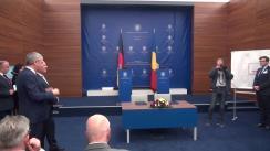 Declarații de presă susținute de secretarul de stat pentru afaceri bilaterale și strategice în spațiul euroatlantic, George Ciamba, și însărcinatul Guvernului federal al Germaniei, Hartmut Koschyk