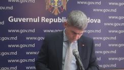 Declarațiile lui Alexandru Jizdan după ședința Guvernului Republicii Moldova din 12 aprilie 2017