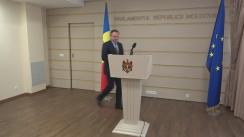 Declarațiile lui Andrian Candu după a treia rundă de dezbateri pe marginea proiectului de lege pentru modificarea sistemului electoral și introducerea votului uninominal
