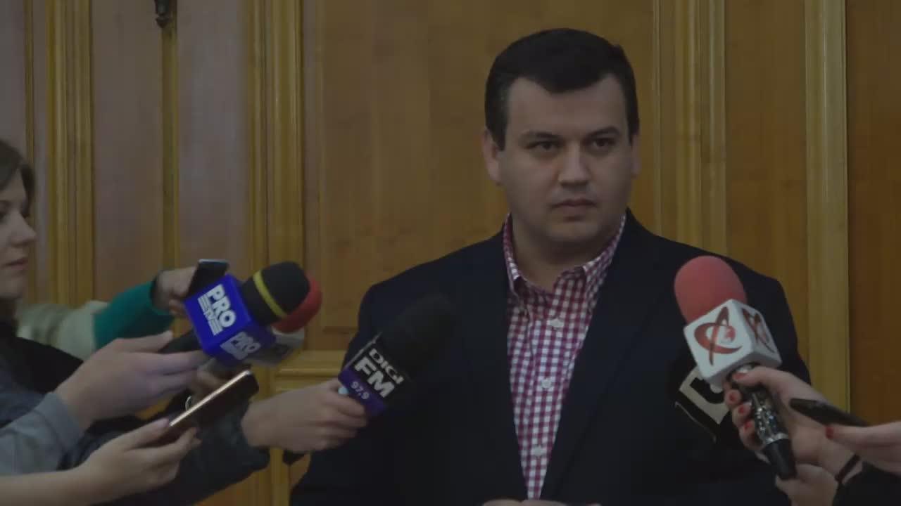 Declarații de presă susținute de președintele executiv PMP, Eugen Tomac