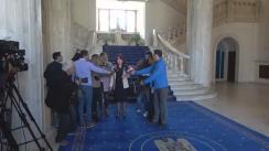 Declarații de presă după întâlnirea Ministrului Justiției, Tudorel Toader, Procurorul șef al DNA, Laura Codruța Kovesi, și Procurorul General al României, Augustin Lazăr