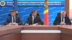 """Conferința de presă consacrată organizării controlului în comun moldo-ucrainean în punctul de trecere a frontierei """"Cuciurgan-Pervomaisc"""""""