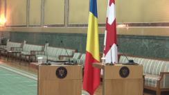 Briefing susținut de prim-ministrul României, Sorin Grindeanu, și prim-ministrul Georgiei, Giorgi Kvirikashvili
