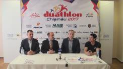"""Conferință de presă organizată de Ministerul Tineretului și Sportului privind desfășurarea Competiției """"Duathlon Chișinău 2017"""", care este la prima ediție și este primul concurs de duathlon din Republica Moldova"""
