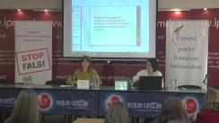 """Conferință de presă cu tema """"Elemente de propagandă, manipulare informațională și încălcare a normelor deontologiei jurnalistice în spațiul mediatic autohton"""" (1 februarie  2017 - 1 aprilie 2017)"""
