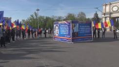 """Evenimentul organizat de Asociația Obștească UNIREA-ODIP """"Harta României Mari formată de 99 de tineri cu 99 de drapele tricolor în mână"""""""