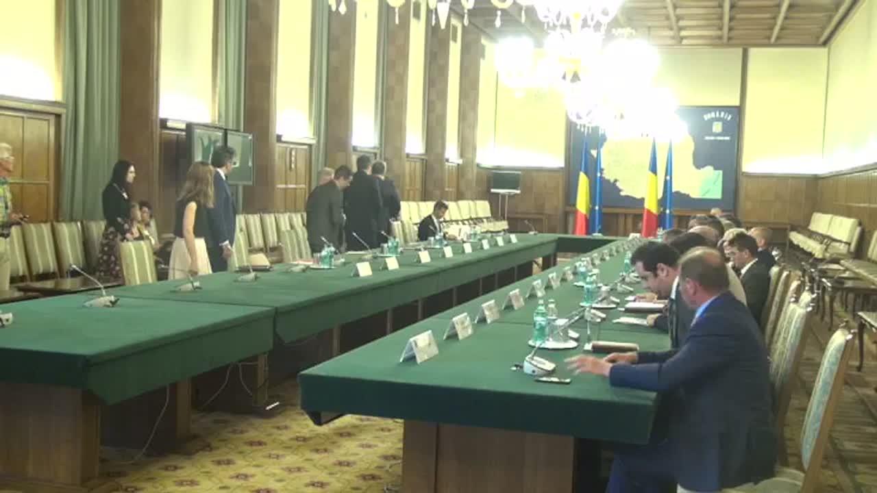 Întâlnirea de lucru a Premierului României, Sorin Grindeanu, cu marii investitori români
