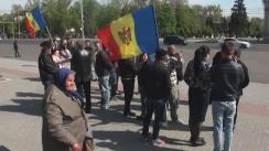 Protest organizat de veteranii și pensionarii Batalionului de Poliție cu Destinație Specială al MAI