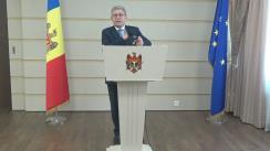 Declarație de presă susținută de președintele PL, Mihai Ghimpu