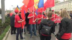 Marșul Solidarității și Dreptății Sociale organizat de Partidul Socialiștilor din Republica Moldova. Mitingul dedicat Zilei Internaționale a Solidarității Muncitorilor