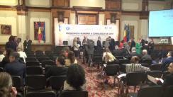 """Dezbaterea publică cu tema """"Președinția română a Consiliului UE 2019 – Împreună pentru consolidarea proiectului european"""""""
