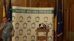 Conferință de presă susținută de Președintele PMP, Traian Băsescu