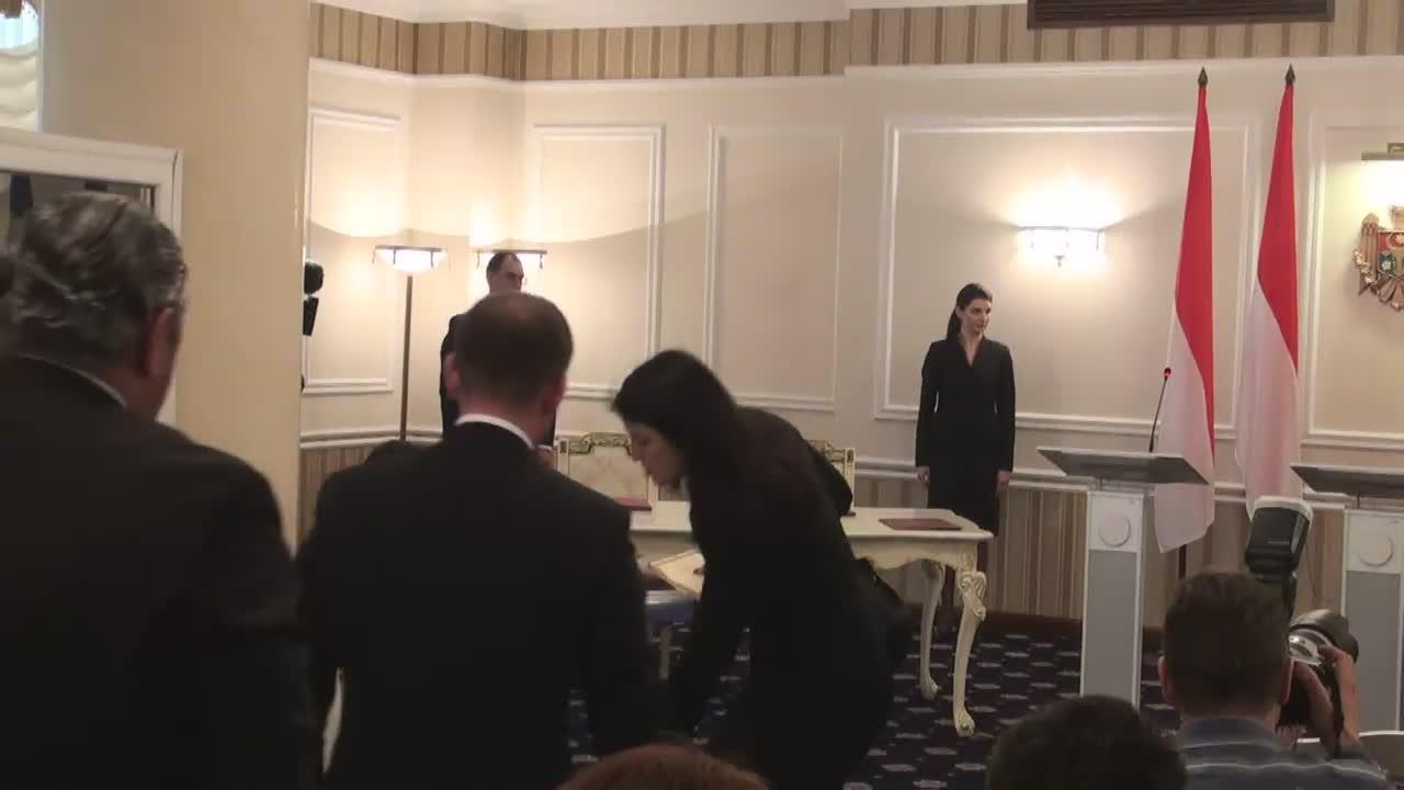 Conferință de presă susținută de Prim-ministrul Republicii Moldova, Pavel Filip, și Prințul Principatului Monaco, Albert al II-lea