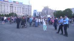 Protest față de legea grațierii în Piața Victoriei