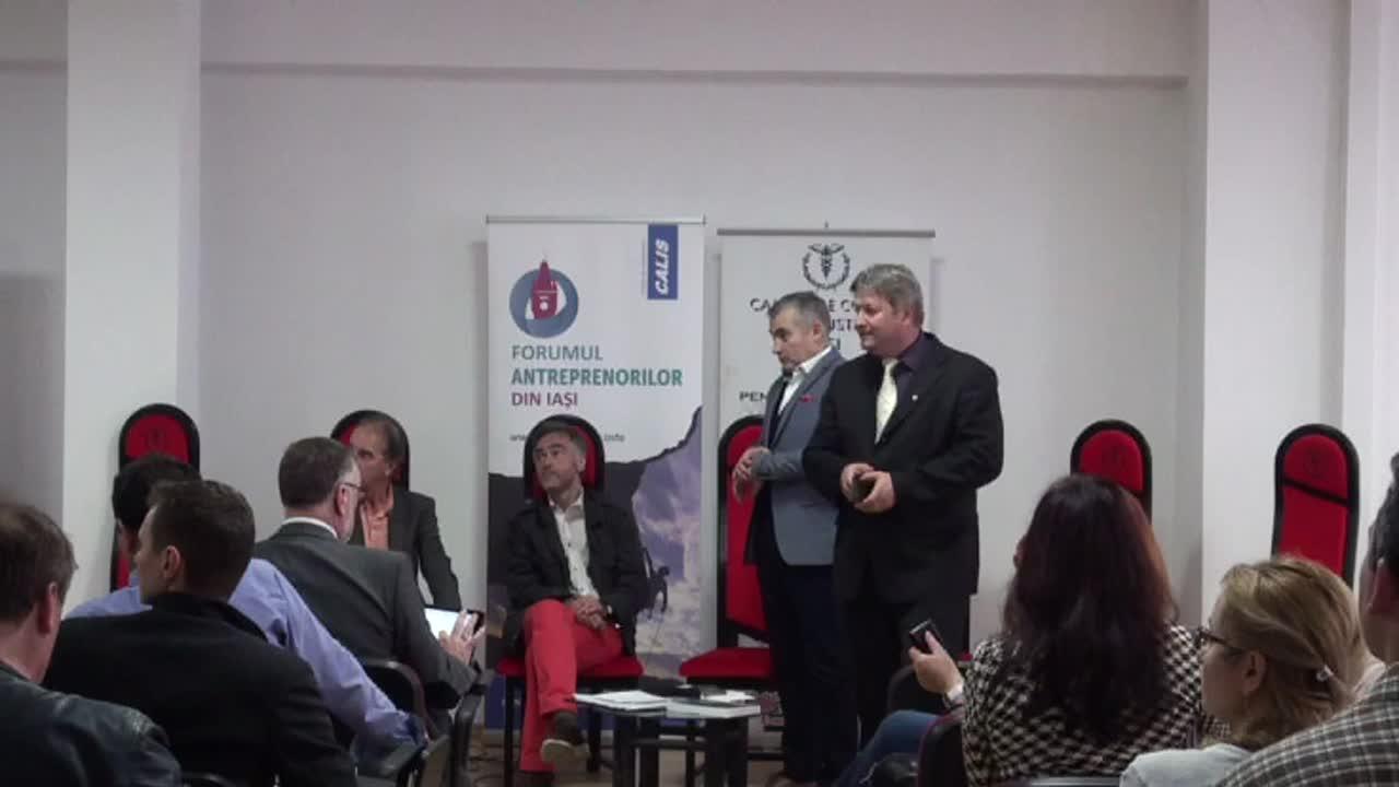 """Dezbaterea """"România, încotro?"""", organizat de Clubul Antreprenorilor Liberali din Iași - CALIS și Institutul Friedrich von Hayek România"""