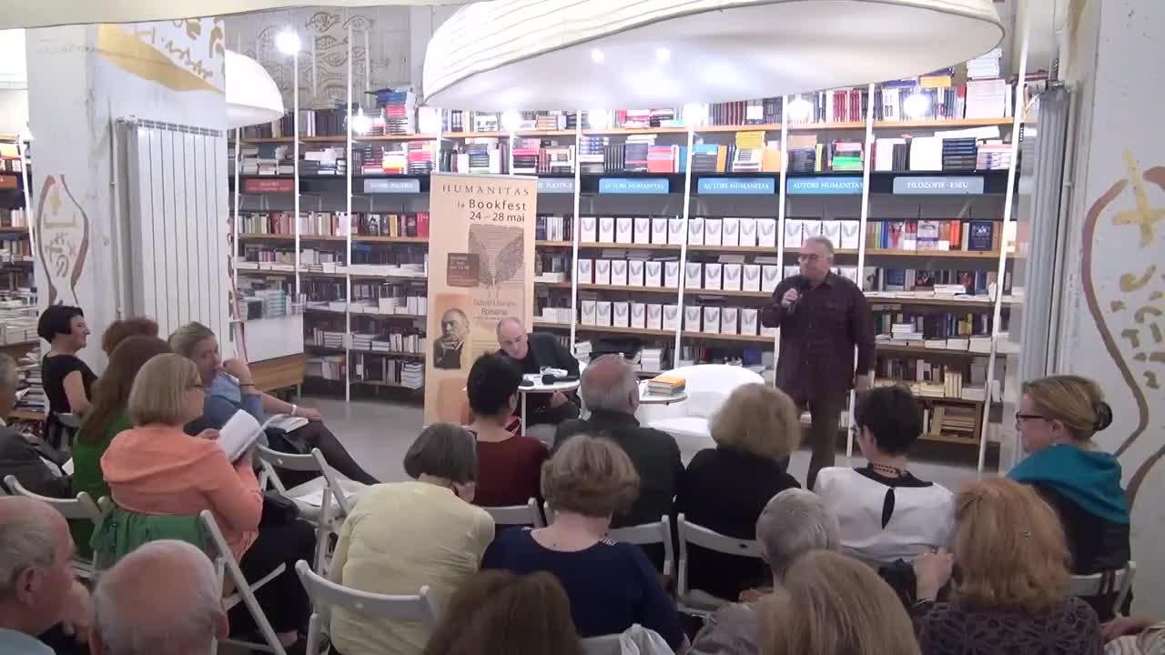 """Evenimentul """"Cărțile care ne-au făcut oameni"""" cu Dan C. Mihăilescu. Invitat: Gabriel Liiceanu. Tema """"Filozofie și trăire"""""""