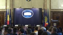 Ceremonia de învestire în funcție a prefectului municipiului București, Petcu Adrian, și a prefectului județului Ilfov, Ghincea Marius-Cristian