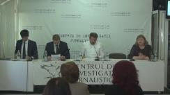 """Ședința clubului de presă cu tema """"Este sau nu justiția din Republica Moldova instrument de presiune asupra oamenilor de afaceri?"""""""